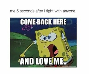 love, quote, and spongebob image