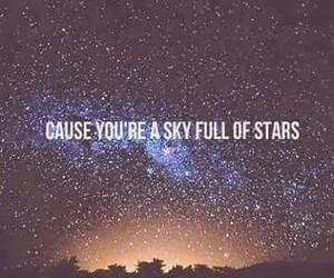stars, coldplay, and sky image
