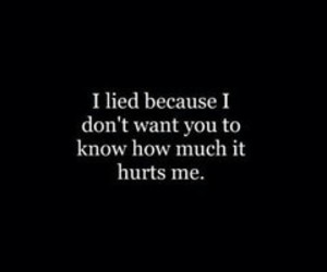 hurt, sad, and lies image