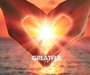 gratitude, happy, and heart image