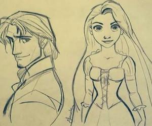 cartoon, draw, and rapunzel image