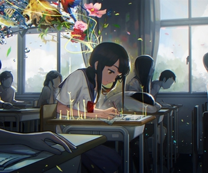 anime, school, and art image