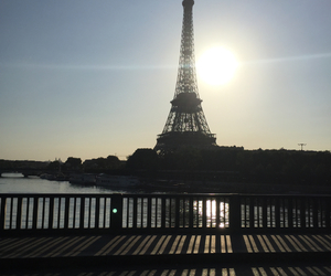 city, france, and morning image