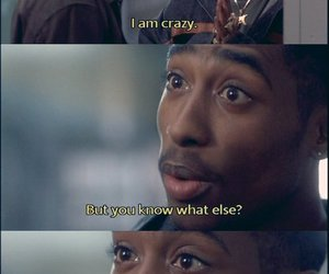 crazy, tupac, and 2pac image