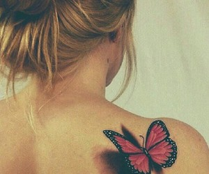 3d, butterfly, and tattoo image