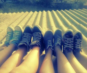 blue, girl, and converse image