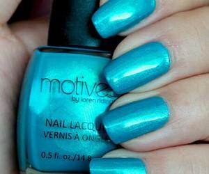 blue, nail, and shimmer image