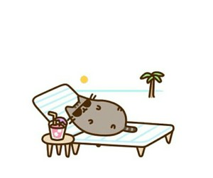 pusheen and summer image
