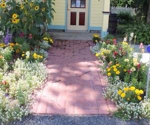 garden, grunge, and flowers image