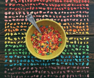 cereal, colors, and rainbow image
