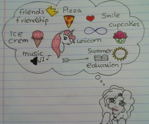 cupcakes, pizza, and smile image