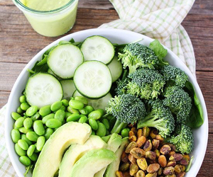 greens, healthy, and clean food image