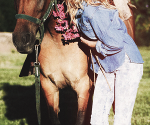 martina stoessel, violetta, and horse image