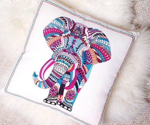 elephant, art, and coussin image