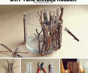 diy, candle, and twigs image