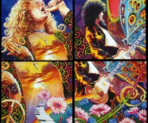 jimmy page, led zeppelin, and robert plant image