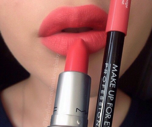lips, mac, and lipstick image