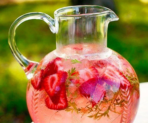 bowle, strawberry, and drink image