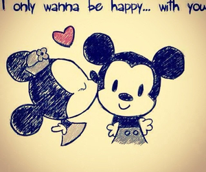 couple, disney, and micky mouse image