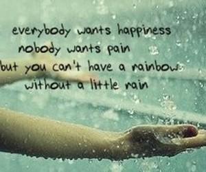 happiness, rain, and pain image