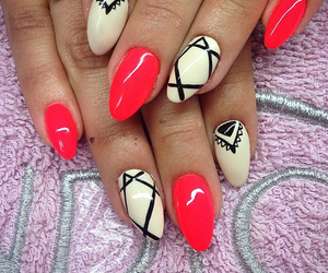 nail, nails, and neon image