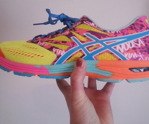 asics, colours, and running image