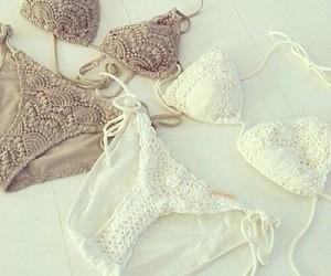 bikini, summer, and white image