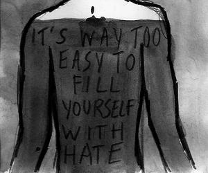 hate and sad image