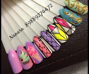 cupcake, ice cream, and nail art image