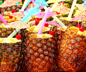 drink, summer, and pineapple image