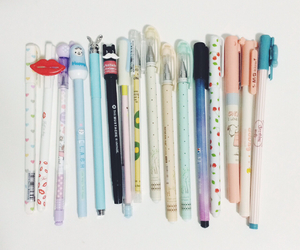 asian, pens, and stationery image