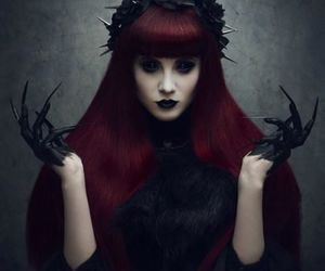 witch, dark, and black image