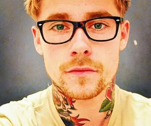 tattoo, glasses, and ginger image
