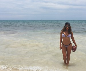 football, ocean, and summer image
