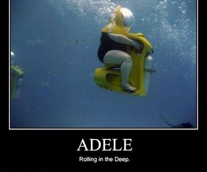 Adele, funny, and rolling in the deep image