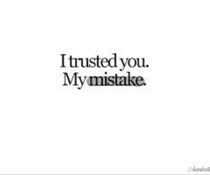 mistakes, trust, and quote image