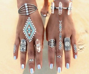 rings, nails, and summer image