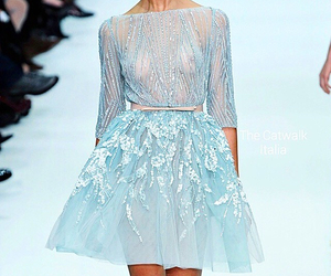 dress, light blue, and luxury image
