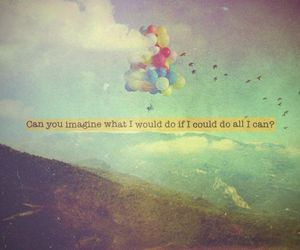 balloons, fly, and imagine image