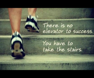 success and stairs image