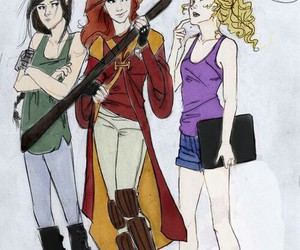 harry potter, annabeth chase, and ginny weasley image