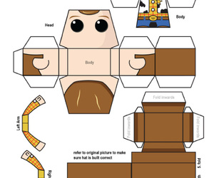 disney, papertoy, and toy story image