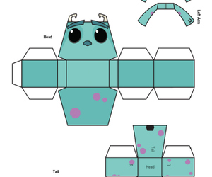 disney, papertoy, and sully image