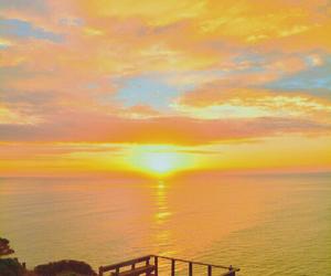 sunset, beach, and beautiful image
