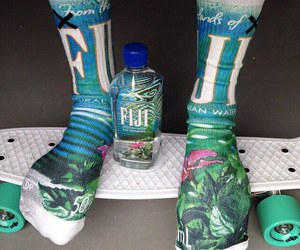 fiji, socks, and water image