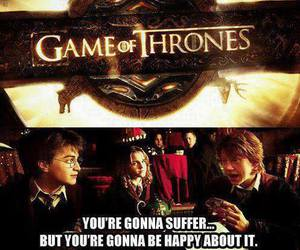 game of thrones, harry potter, and funny image