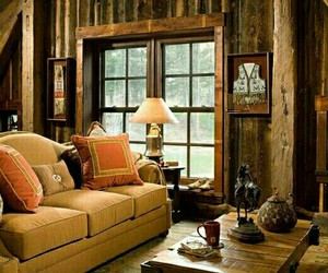 cabin, cozy, and country image