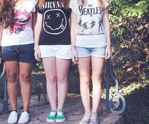 girl, nirvana, and the beatles image