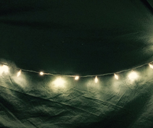 blankets, fairy lights, and light image