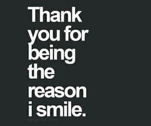 smile, thank you, and you image